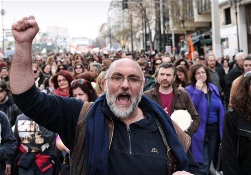 اعتصاب 24 ساعته اتحادیه های کارگری یونان در اعتراض به سیاست های ریاضتی
