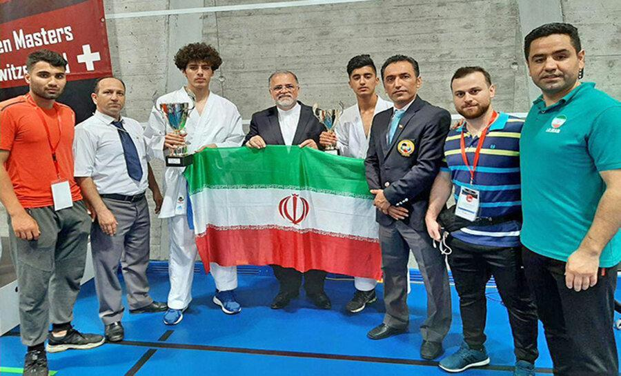 6 مدال تیم منتخب کاراته گلستان در رقابت های بین المللی سوئیس