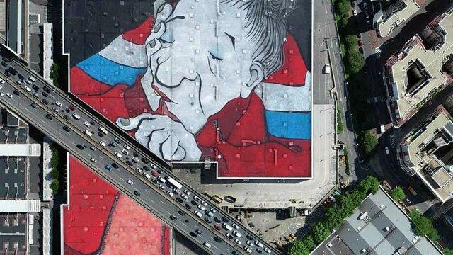 از بزرگترین نقاشی دیواری اروپا رونمایی شد