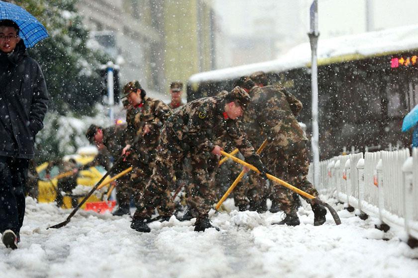 کشته شدن 10 نفر در چین در پی بارش برف