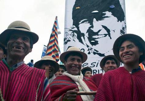 حرکت هواداران مورالس به سمت پایتخت بولیوی