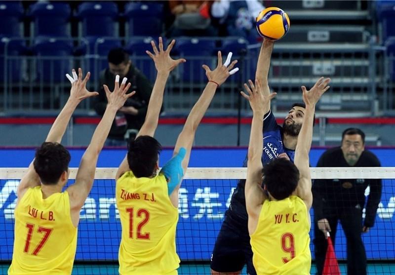 والیبال انتخابی المپیک، فزونی ایران مقابل چین در ست دوم