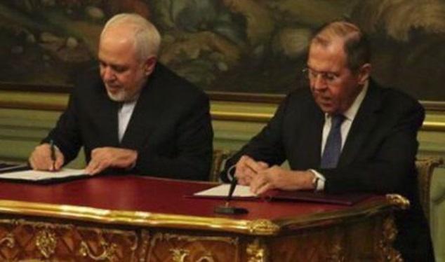 اعلامیه مشترک ایران و روسیه درباره ارتقای حقوق بین الملل به امضای ظریف و لاوروف رسید