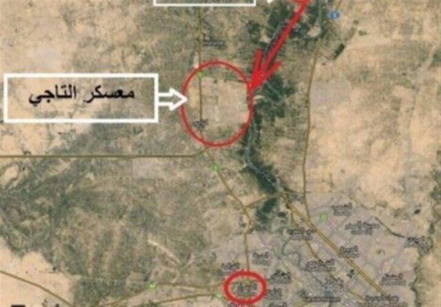 حمله موشکی به پایگاه التاجی عراق