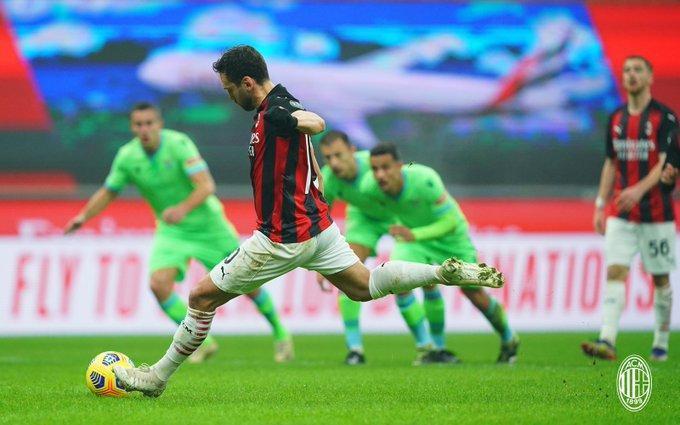 میلان 3 - 2 لاتزیو؛ بازگشت به صدر، دقیقه 92