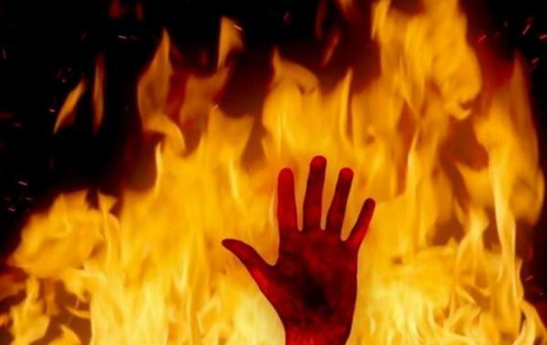 آتش زدن شوهر به دلیل توهم توطئه